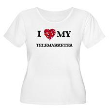 I love my Telemarketer hearts de Plus Size T-Shirt