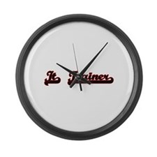 It Trainer Classic Job Design Large Wall Clock