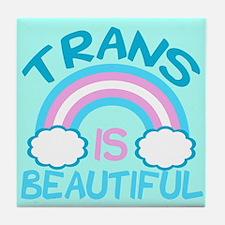 Pretty Trans Tile Coaster