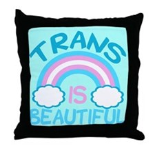 Pretty Trans Throw Pillow