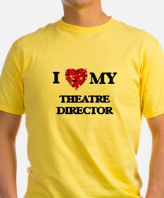 I love my Theatre Director hearts design T-Shirt