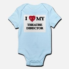I love my Theatre Director hearts design Body Suit