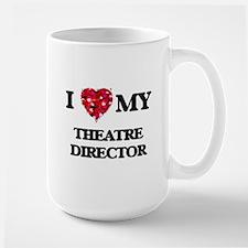I love my Theatre Director hearts design Mugs