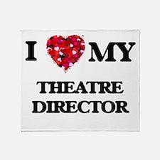 I love my Theatre Director hearts de Throw Blanket