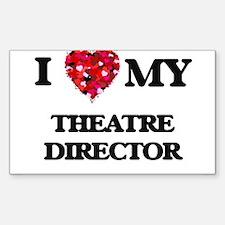 I love my Theatre Director hearts design Decal