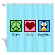 Cute Penguin Shower Curtain