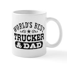 World's Best Trucker and Dad Mug