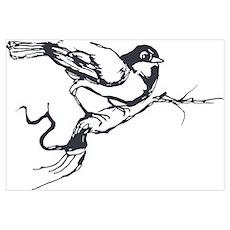 Bird on a Limb Poster