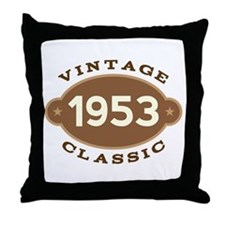 1953 Birth Year Birthday Throw Pillow