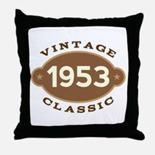 1953 Birth Year Birthday Throw Pillow