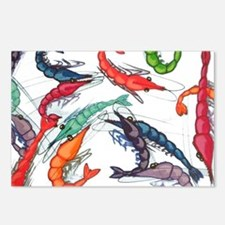 shrimp party Postcards (Package of 8)