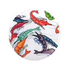 """shrimp party 3.5"""" Button (100 pack)"""