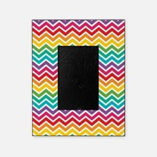Cheerful Rainbow Chevron Picture Frame
