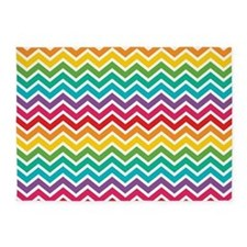 Rainbow Abstract - Chevron 5'x7'Area Rug