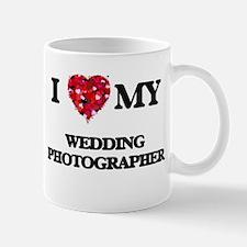 I love my Wedding Photographer hearts design Mugs