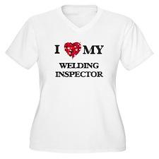 I love my Welding Inspector hear Plus Size T-Shirt