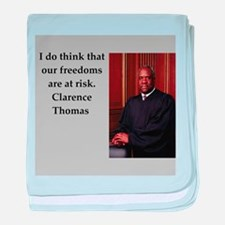Clarence Thomas quote baby blanket