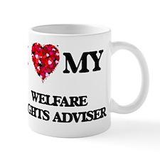 I love my Welfare Rights Adviser hearts Mug
