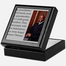 Clarence Thomas quote Keepsake Box