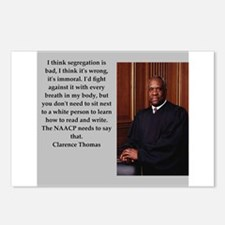 Clarence Thomas quote Postcards (Package of 8)