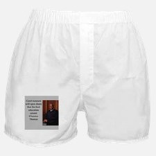 Clarence Thomas quote Boxer Shorts