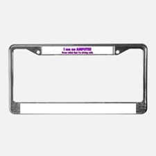 Amputee Humor License Plate Frame