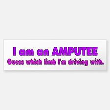 Amputee Humor Bumper Car Car Sticker