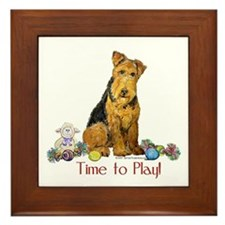 Time to Play Airedale! Framed Tile