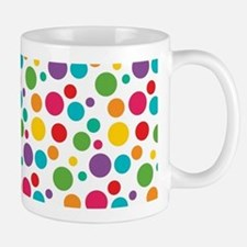 Cheerful Rainbow Polka Dots Mug