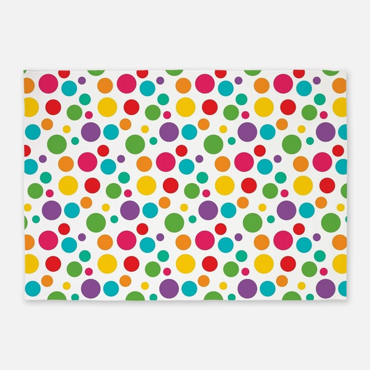 Polka Dot Rugs: Rainbow Polka Dot Rugs, Rainbow Polka Dot Area Rugs