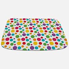 Cheerful Rainbow Polka Dots Bathmat