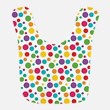 Cheerful Rainbow Polka Dots Bib
