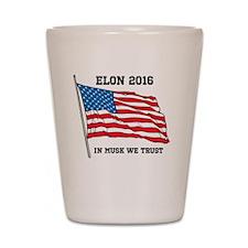 Elon 2016 Campaign Novelty  Shot Glass