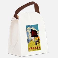 Valais Switzerland Canvas Lunch Bag