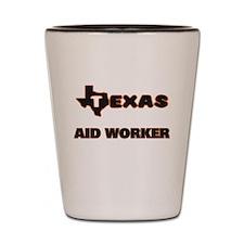Texas Aid Worker Shot Glass