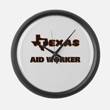 Texas Aid Worker Large Wall Clock