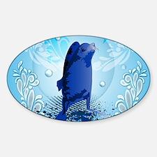 Cute walrus with decorative splash elements Sticke