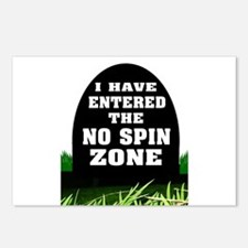 NO SPIN ZONE Postcards (Package of 8)