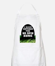 NO SPIN ZONE Apron