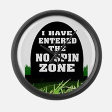 NO SPIN ZONE Large Wall Clock