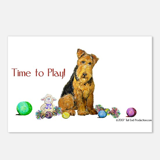 Time to Play Airedale! Postcards (Package of 8)