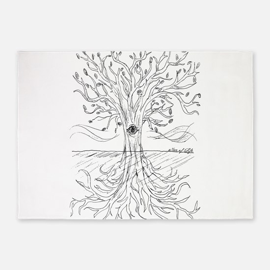 Tree of Life 5'x7'Area Rug