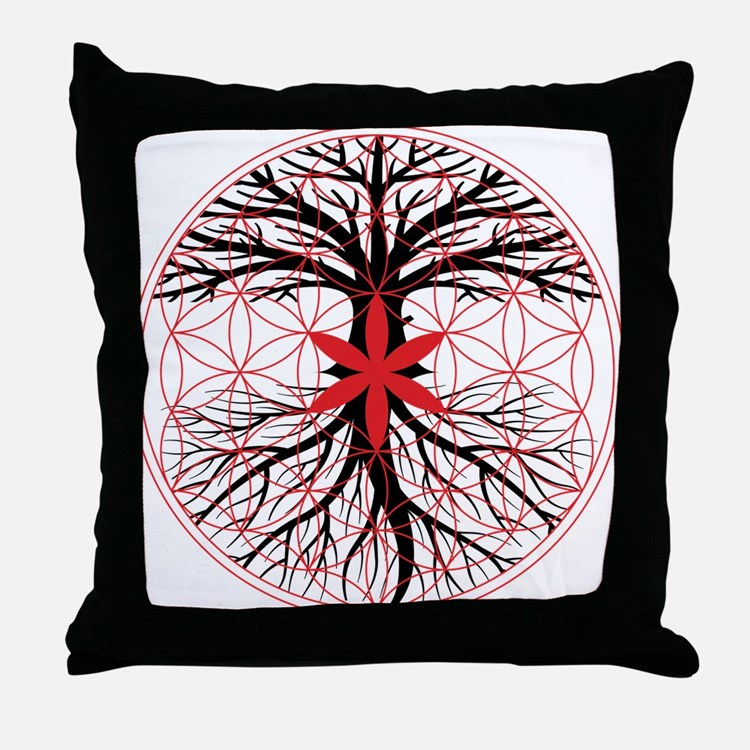 Tree of Life / Flower of Life Throw Pillow