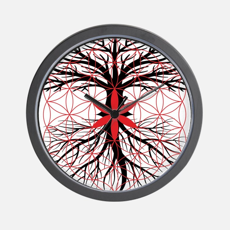 Tree of Life / Flower of Life Wall Clock