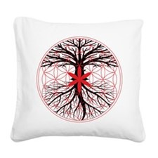 Tree of Life / Flower of Life Square Canvas Pillow