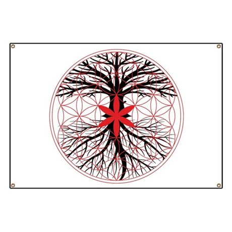 tree of life flower of life banner by rootsreggaeapparel. Black Bedroom Furniture Sets. Home Design Ideas