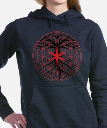 Tree of Life / Flower of Life Women's Hooded Sweat