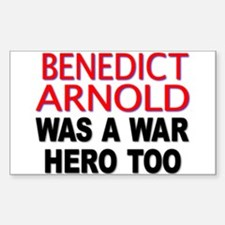 Benedict Arnold, War Hero Rectangle Decal