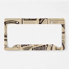 Old Newspaper License Plate Holder