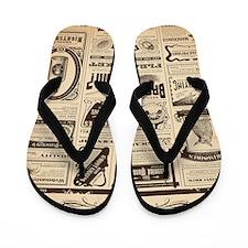Old Newspaper Flip Flops